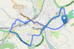 Truro City Centre loop running map