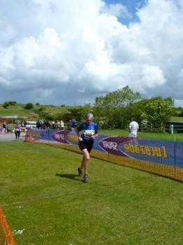 Hana Crosses the finish line.  Trevornick 10m, 2011