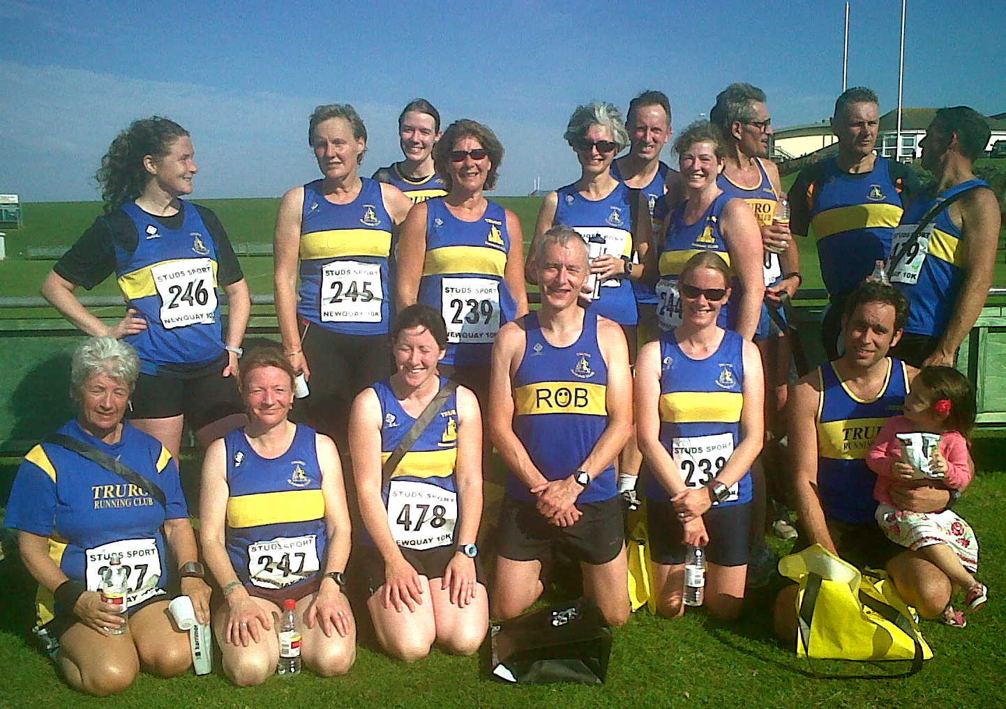 TRC team, Newquay 10k, Oct 2011