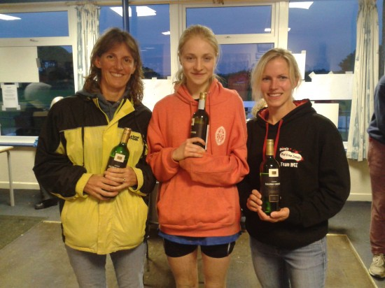 Truro Running Club's winning ladies team at Meet Your Max, 2012