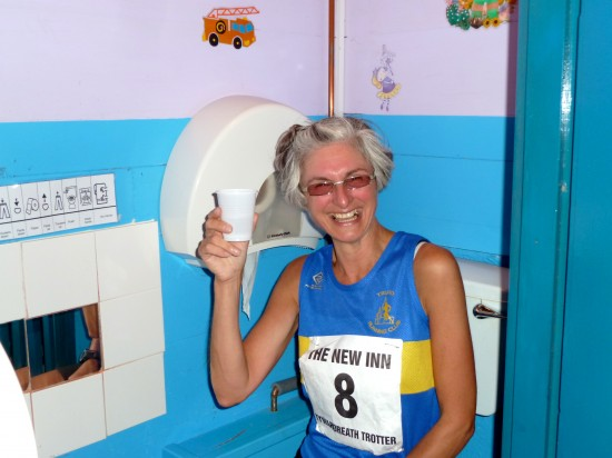 Hanna Clitherow on the children's loo at Tywardreath Trotter 2012