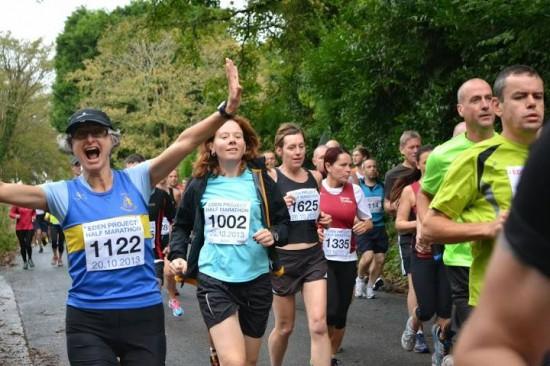Hana at the Eden Half Marathon 2013