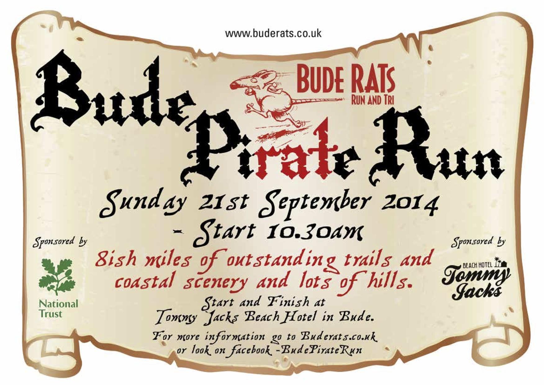 Bude Pirate Run 21st September 2014