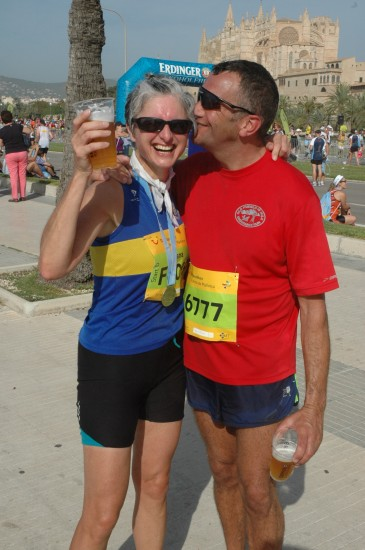 Hana and Si, Palma Half Marathon 2014